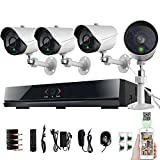 [Crazy Deals]TECBOX 8 Channel Full D1 CCTV DVR HDMI Realtime Network H.264 Security Home Surveillance System With 4 IR-Cut Bullet 800TVL Outdoor Cameras No Hard Drive