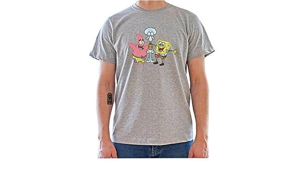 Spongebob Squarepants Squidward Patrick Star Mens T-Shirt: Amazon.es: Ropa y accesorios