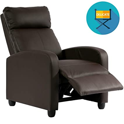 Amazon Com Recliner Chair Pu Single Sofa Modern Reclining Seat Home