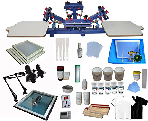 4 Color 2 Station Screen Printing Press KIt T-Shirt Printing Kit by Screen Printing Kits