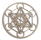 12'' Metatron's Cube, wooden wall art hanging home decor, sacred geometry art, wood sculpture, wall decorations, USA made geometric