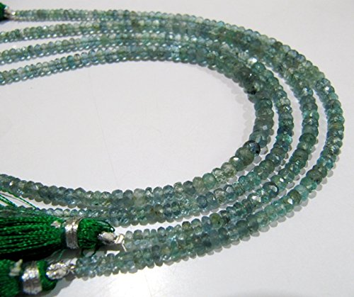 Round Colombian Emerald - AAA Quality Natural and Genuine Emerald Beads/Rondelle Faceted Colombian Emerald Gemstone Beads / 3 to 4mm Graduated Beads/Strand 8 inch
