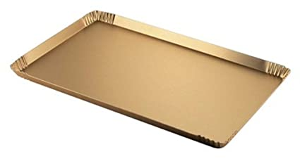 OTTINETTI Linea Pastelería Bandeja, Aluminio, Oro