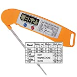 Instant Read Thermometer Accurate Cooking Meat Barbecue Internal thermometer Ultra Fast Digital Thermometer with Folding Probe-Auto On/oFF -Comenzar