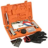 WYNNsky Heavy Duty Tire Repair Tools Kit - 61 Pcs Set Truck Tool Box for Motorcycle, ATV, Jeep, Truck, Tractor Flat Tire Plug Kit