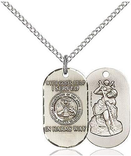DiamondJewelryNY Sterling Silver Air Force Pendant