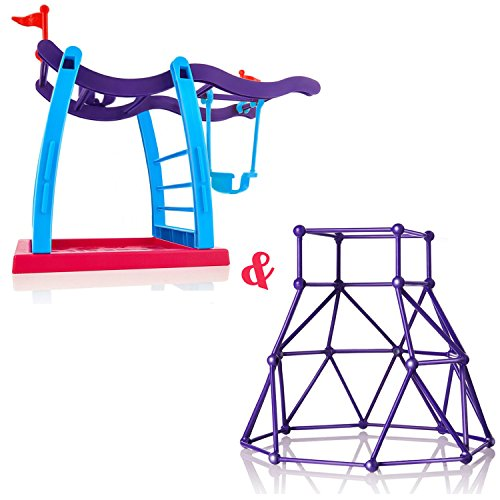 Jimps Fingerling Monkey Climbing Stand   Swing Stand  Interactive Baby Monkey Playground   Bars   Playset For Fingerling Baby Monkey Toy  Without Monkey