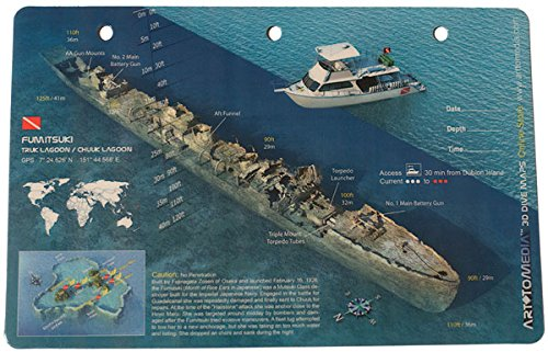 Art To Media Dive Map - Fumitsuki, Truk/Chuuk - Detailed Diagram The Ear Of