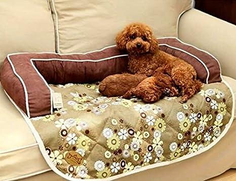 Acolchado sofá para perro Cama 86 x 68 cm - Chocolate - con funda con cremallera - Base antideslizante: Amazon.es: Productos para mascotas