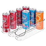 mDesign Mini Soda Can Holder for Kitchen, Fridge Storage - Clear