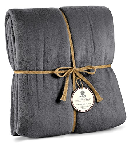 Genteele Luxurious Velvet Fleece Blanket Ultra Plush Soft Cozy Warm Bed Blanket, Twin 66