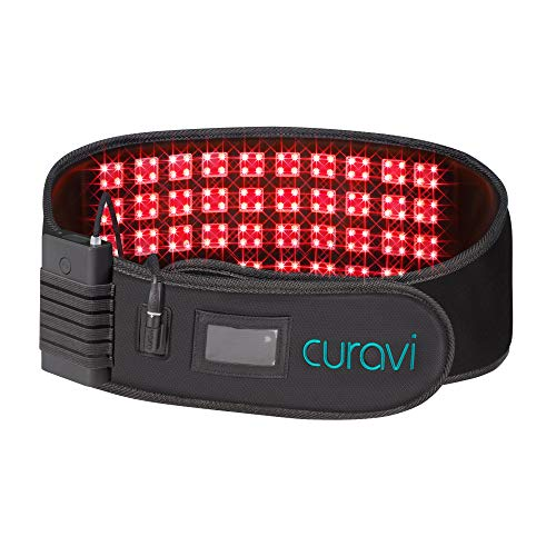 CuraviPro Belt Laser Light Therapy for Pain Relief - Temporarily Relieves Lower Back Pain from Mild to Moderate Aches, Muscle Spasms, Inflammation – All Medical-Grade Lasers - Professional-Grade