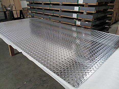 """1//8/"""" Aluminum Diamond Plate 30030 Mirror Finish 24/"""" x 24/"""""""