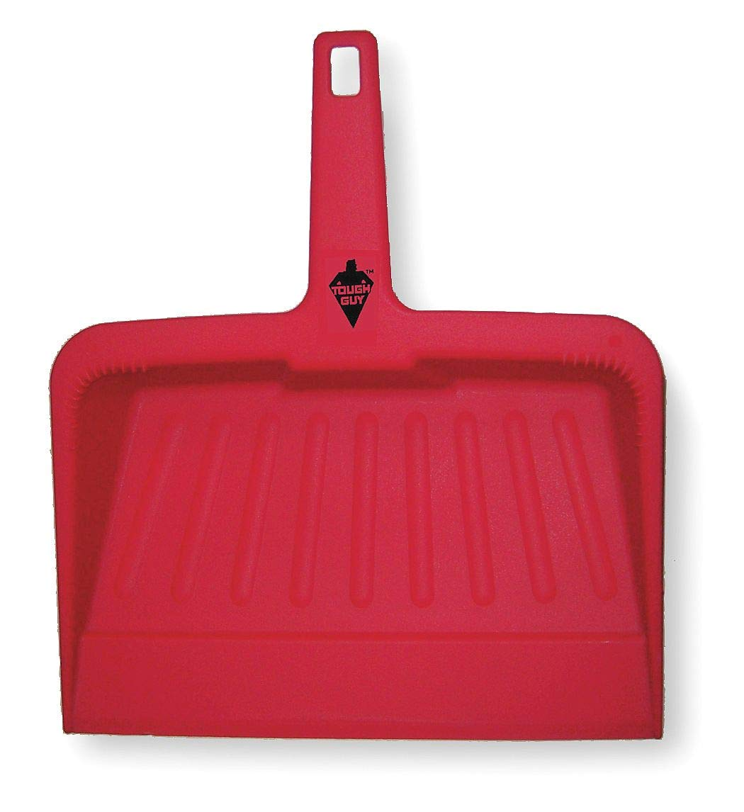 Tough Guy Hand Held Dust Pan, Red, Plastic by Tough Guy