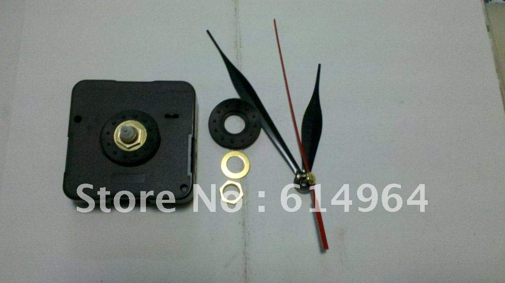 Maslin Clock Movement kit 12mm Clock Insert Clock Parts wit Three Hands with Ruber Screw, Ring