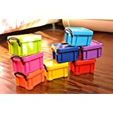 TYHY 9 Colors Cute Candy Mini Storage Clip Lock Receive Box For Office or Home Use. To Keep Candy Hairpin Earrings or Coin-Pack of 9