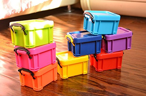 TYHY 9 Colors Cute Candy Mini Storage Clip Lock Receive Box For Office or Home Use. To Keep Candy Hairpin Earrings or Coin-Pack of 9 (Decorative Mini Containers compare prices)