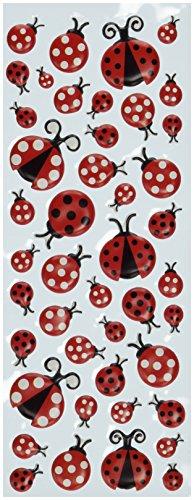 EK Success Puffy Classic Stickers-Ladybugs -