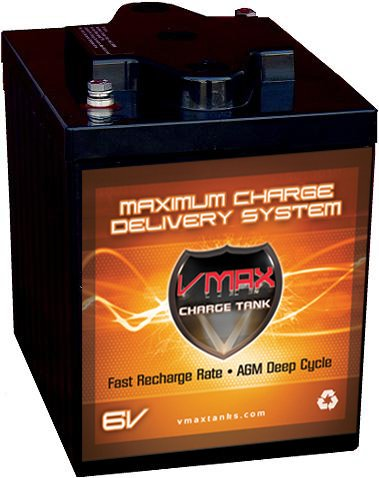VMAX6-225 GC2 AGM Deep Cycle Battery Replacement for E-Z-GO
