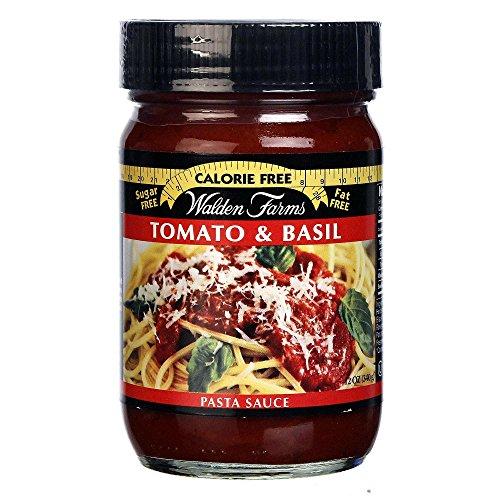 Walden Farms Garlic & Herb Pasta Sauce/Pasta Sauce Alfredo/Pasta Sauce Tomato and Basil 12 fl oz (Tomato and Basil)