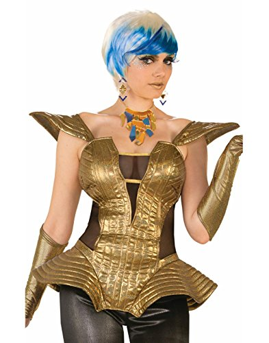 Forum Novelties Futuristic Gold Corset Outer Space 80s Retro Disco Women Costume Accessory (Outer Space Costume Women)