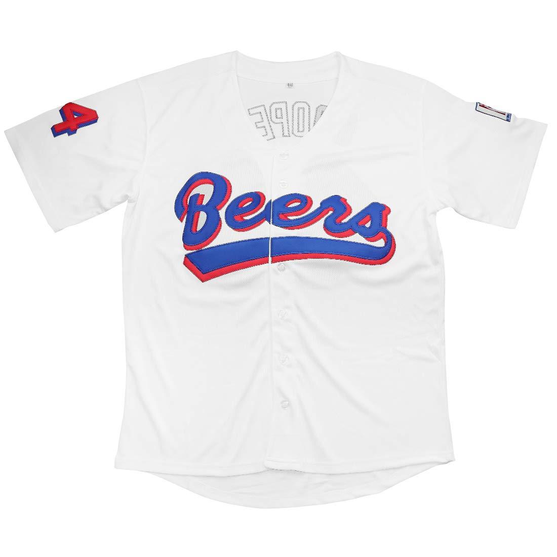 Kobejersey Beers Jersey Joe Cooper 44 Baseball Jersey Baseketball Movie Joe Stitched Clothing Throwback