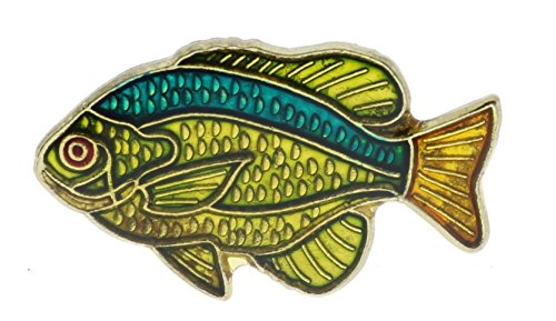 (Sujak Military Items Bluegill Swimming Fish Hat or Lapel Pin AKP273)