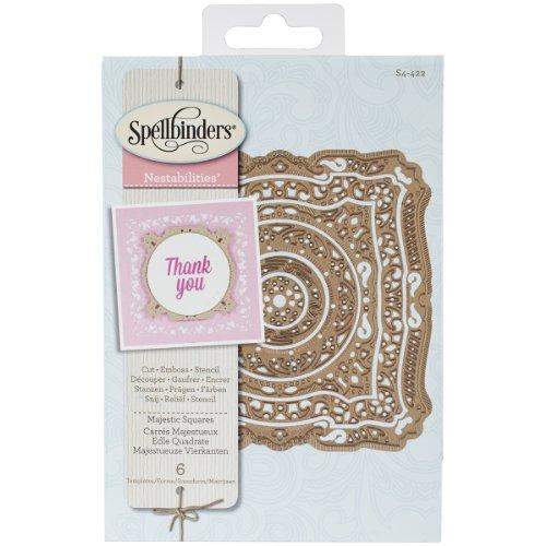 Spellbinders S4-422 Nestabilities 'Majestic Squares' Scrapbooking Template Nestabilities Card