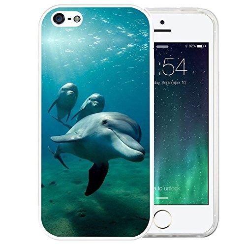 iPhone SE Case, LAACO Beautiful Clear TPU Case - Dolphin Phone Accessories