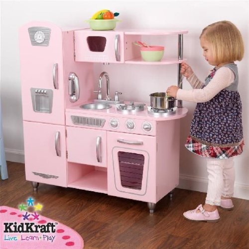 KID KRAFT キッドクラフト ピンク レトロ キッチン 【53179】   B009MWCAW8