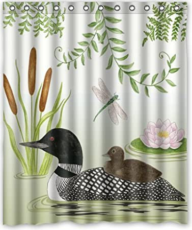 Crystars Loon Lake Waterproof Fabric Polyester Bathroom Shower Curtain 48x72 IN