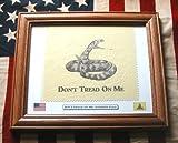 American Revolution. Framed Don't Tread On Me, Gadsden Flag Review