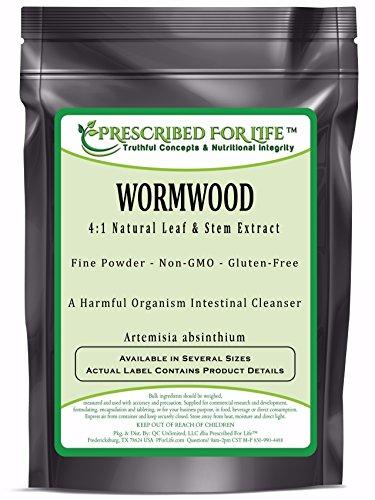Wormwood - 4:1 Natural Leaf & Stem Extract Powder (Artemisia absinthium), 4 oz