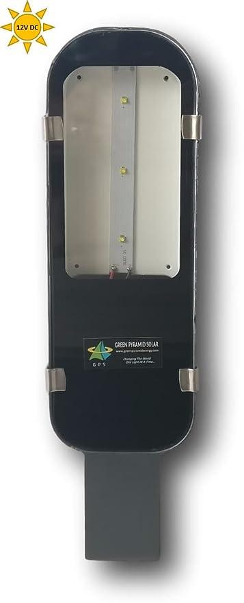 Green Pyramid Energy Waterproof LED Metal Street Light for Solar (Cool White, 12 Volts DC, 12 Watts, Alumininum)