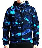 Nike T/F Camo Windrunner Men's Jacket Squadron Blue/Bright Crimson (XL)