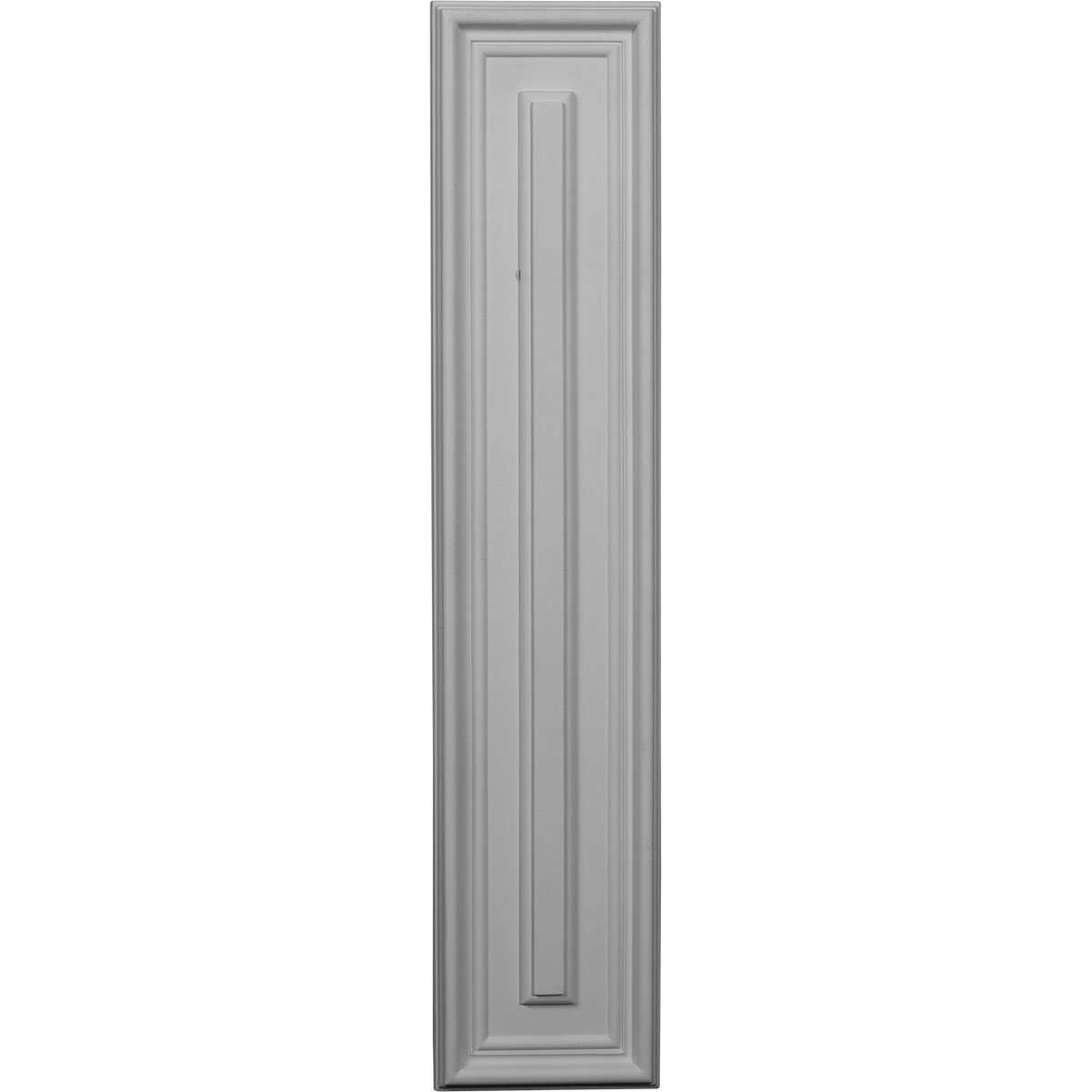 Ekena Millwork PNL22X05LE-CASE-12 22 5/8 inch W x 4 3/4 inch H x 5/8 inch P Legacy Rectangle Wall/Door Panel (12-Pack),