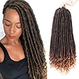 20 Inch Crochet Faux Locs Straight Curly Ends 6Pcs/Lot Goddess Locs Crochet Hair Goddess Braids Crochet Hair Extensions (1B-27#)