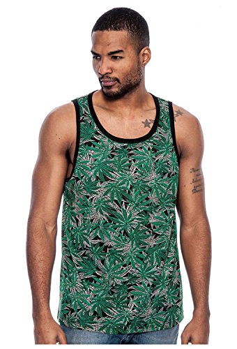Tonic Top - True Rock Men's Tonic Graphic Tank Top-Green/Black-Large