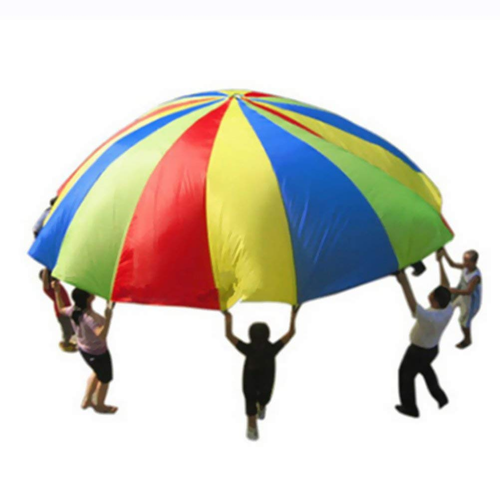 HMNJ Children Parachute Outdoor Portable Classic Throwing Toy for School Activity Picnics Birthday Parties by HMNJ