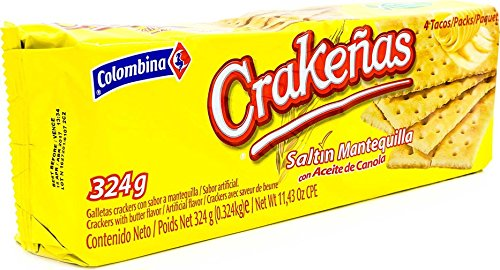 Amazon.com : Crakenas Saltine Crackers, 6.6 Ounce (Pack of 12) Premium Saltine Crackers with Butter Flavor, Bulk Saltine Crackers Individually Wrapped ...