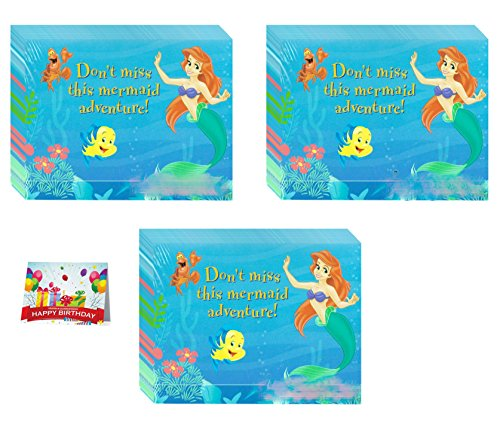 Little Mermaid Invitations Pack of 24