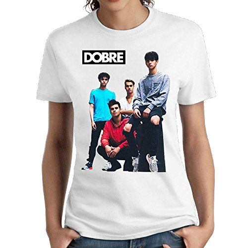 Women's Lucas Dobre Logo Casual Style Short Tshirt Girl Classic Tee White (Brother Womens Light T-shirt)
