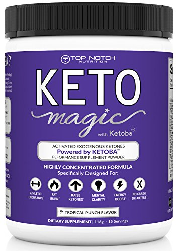 Keto Magic Exogenous Ketone Weight Loss Supplement Powered by Patent-Pending Blend KETOBA (BHB's+BA) | Achieve & Stay in Ketosis & Ketogenesis | Feel Energized, Empowered, Focused & Reach Your (Test Magic)