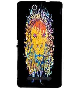 SONY XPERIA C3 LION Back Cover by PRINTSWAG
