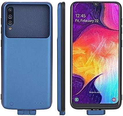 Compatible con Samsung Galaxy A50 Funda Batería, 7000mAh Externo Recargable Cargador de Batería Banco de Energía Portátil Extendido Backup Extra Pack ...