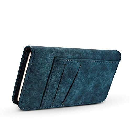 Vin beauty Mujeres Hombres Cuero extraíble Billetera Monedero magnético ID de crédito de voltear Cubierta del caso del s #14