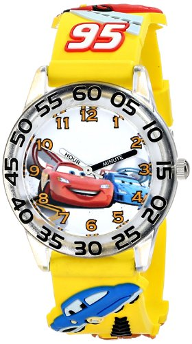 "Disney Kids' W001506 ""Time Teacher"" Disney Cars Watch With Yellow 3-D Band"
