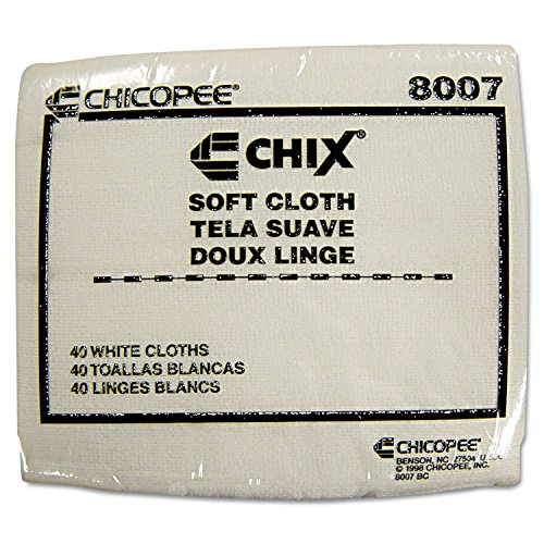 Chicopee CHI 8007 Soft Cloth with Microban 13 x 15 Inch - 40 Bags of Cloths - 30 Bags Per Case by Chix