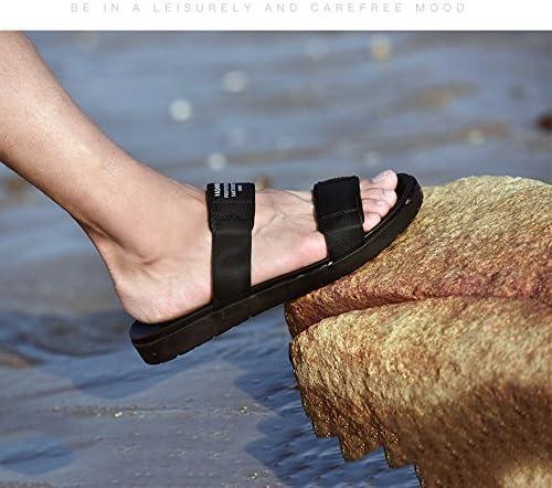 Yaunli Herrensandalen Open-Toed Sandalen Herren Ribbon Slippers Echtes Leder Casual römischen Stil Herren Sandalen Strand im Freien Duschstrandschuh (Size : 42)