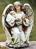 Cheap 17″ Joseph's Studio Angel Holding Baby Outdoor Garden Statue
